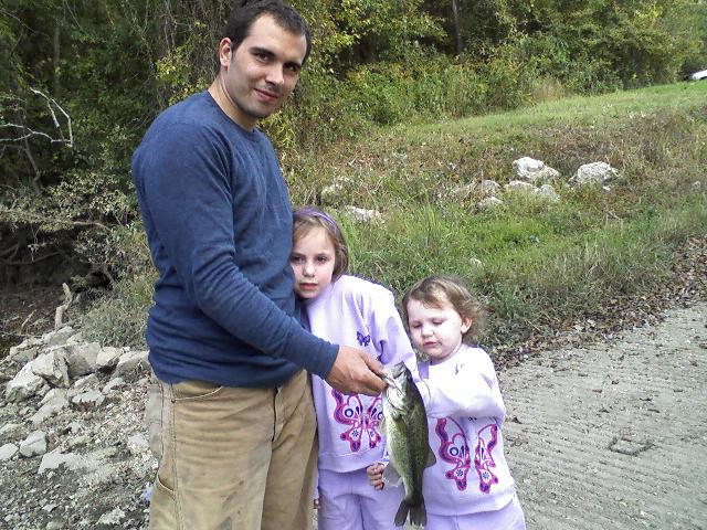 Marc and the girls fishing