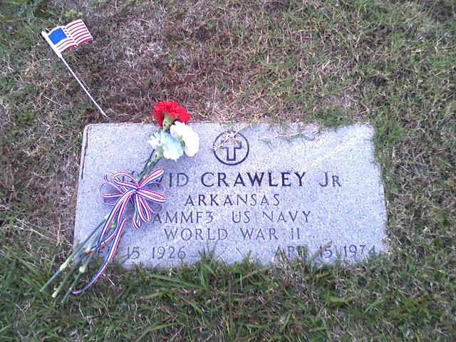 Daddy's dads grave on Veteran's Day